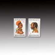 卢旺达1970民族服饰头饰