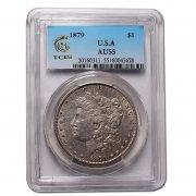 美国 摩根银币 TCLS 评级币 天印评级 1921年